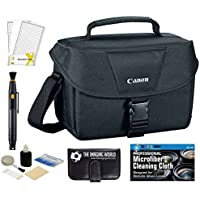Canon Well Padded Multi Compartment Compact Digital SLR EOS Rebel Camera Gadget Case + Lens Cleaning Pen + Screen Protector + Accessories Bundle
