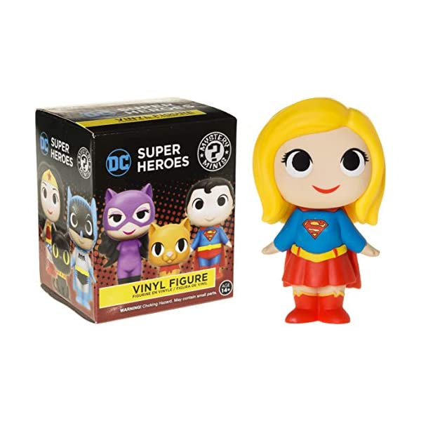 Supergirl: 2.7in Funko Mystery Minis Vinyl Figure Bundle with 1 Compatible 'ToysDiva' Graphic Protector (11346 - B)