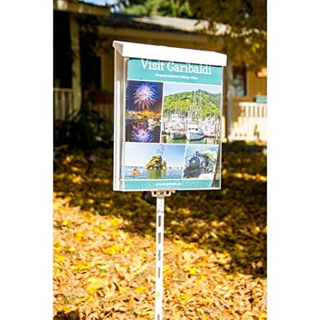 SRE-912-HD Acrylic Waterproof Outdoor Brochure Holder with Self-Closing Lid Plastic Heavy Duty Flyer Display 8.5x11 Pack of 1 Clear-Ad