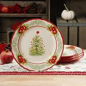 the pioneer woman garland 108 inch dinner plates set of 4 - Pioneer Woman Christmas