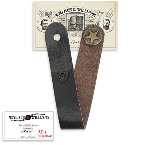 Walker & Williams AT-1 BRN Brown Acoustic Guitar Strap Button Headstock Adaptor