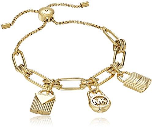 Michael Kors Hamilton Gold-Tone Charm Bangle Bracelet
