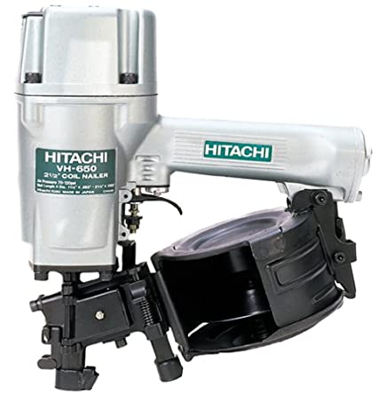 Hitachi VH650 Round Head 1-1/4-Inch to 2-1/2-Inch Coil Siding Nailer ...