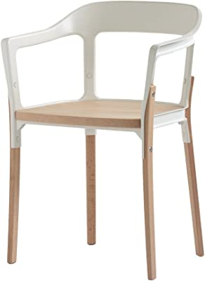 Magis Design Steelwood Chair Natural Beech/White