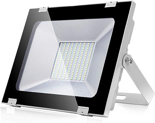 Focos LED Exteriores 100W 8000LM Proyector led exterior de impermeable IP65 6500K Blanco Frío Luz de seguridad al aire libre para Terraza Jardín Patio Parque Garaje: Amazon.es: Iluminación