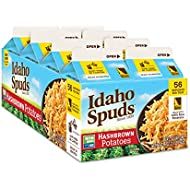Idaho Spuds Real Potato, Gluten Free, Hashbrowns 4.2oz (8 Pack)