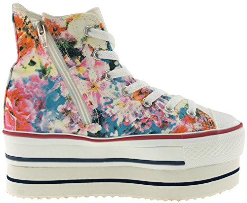 Shoes Top Flower CN9 Double High 7 Holes Rose Blue Maxstar Sneakers Platform Zipper BUXzqSS