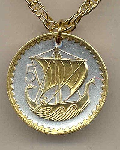 Gorgeous 2-Toned Gold on Silver Cyprus Viking ship for sale  Delivered anywhere in USA