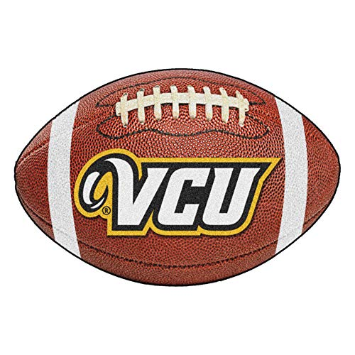 FANMATS NCAA Virginia Commonwealth Univ Rams Nylon Face Football Rug ()