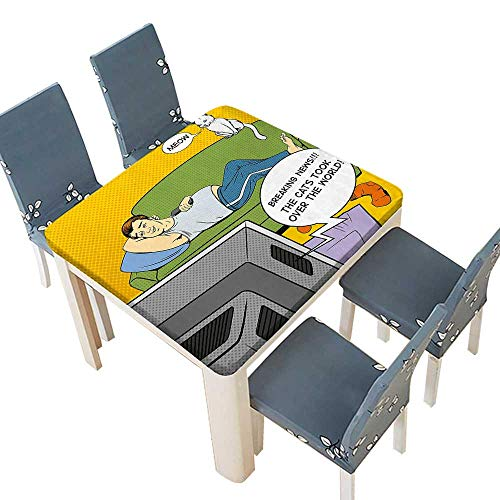 Waterproof SpillProof Tablecloth Lying on Couch Watching TV