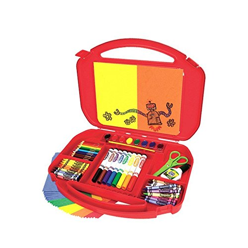 (Crayola 04-5674  Ultimate Art Case With Easel, 85 Pieces, Gift For Kids, Age 4, 5, 6, 7, 8, 12 1/4
