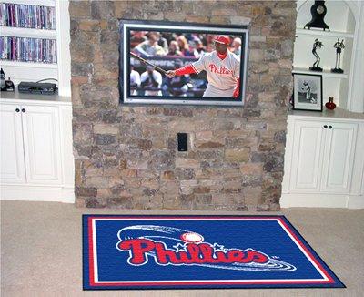 Military Fanmats Rugs Starter (MLB - Philadelphia Phillies Rug 4x6 46
