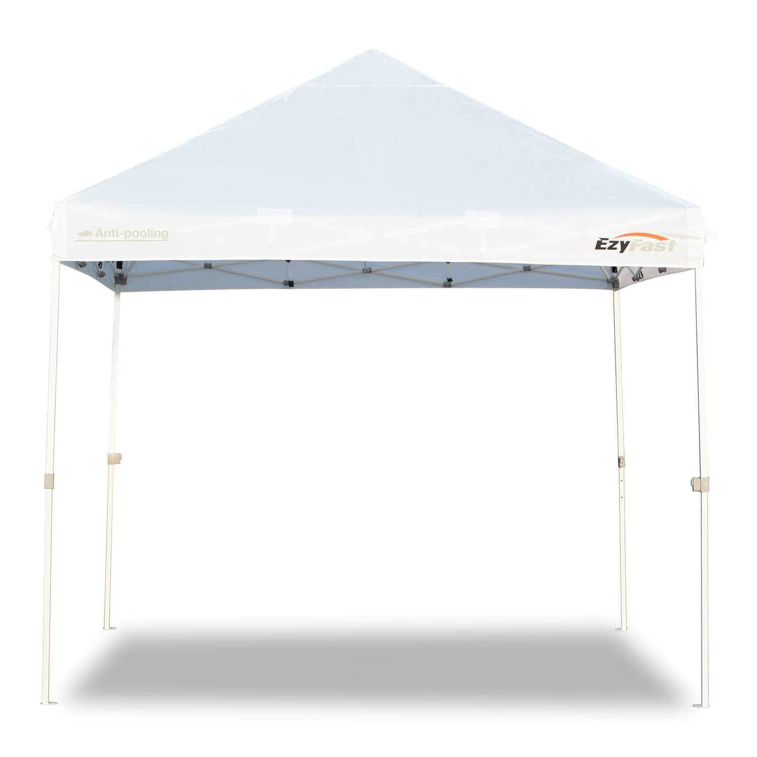 EzyFast Antipool Pro Commercial Canopy for Rain or Sunshine, White Heavy Duty 10×10 Pop Up Canopy, Portable Patented Instant Shade Tent with Wheeled Carry Bag