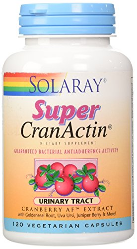 Solaray Super Cranactin Cranberry AF Extract Vegetarian Capsules, 400 mg, 120 Count ()