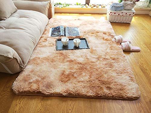 Alfombra peluda de la zona de la sala de estar mano-Tufted, grueso y suave paño de la tabla de centro de la sala de estar de...