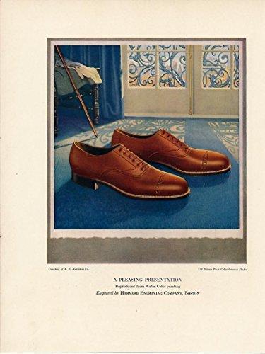 Men's dress shoes custom home design charming 1927 vintage colorful ad print ()