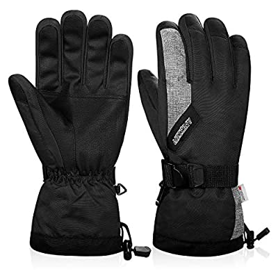 Anqier Winter Gloves Men Women Touchscreen Thermal 3M Thinsulate Windproof Cold Weather Gloves for Running Driving Skiing