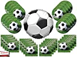 Soccer Ball Party Supplies Bundle Pack for 16 with 18 Inch Soccer Ball Balloon (Plus Party Planning Checklist by Mikes Super Store)