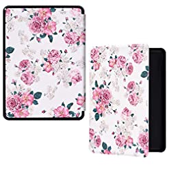 HoYiXi All-New Kindle 2019 Case Slim Leather Cover Smart Standing Cover with Auto Sleep/Wake Painted Shell for Amazon…