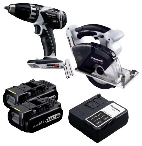 Panasonic EYC194LR Cordless, Battery Powered, Rechargeable 14.4V Metal Combo Kit