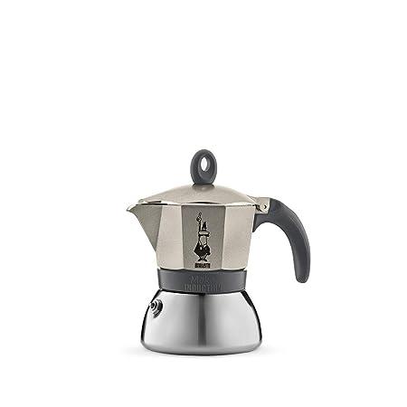 Bialetti Moka Induction, cafetera con Base de Acero para inducción, Color Oro, 3 Tazas