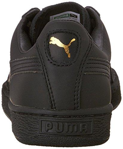 Puma Menns Kurv Klassiske Aku Mote Sneaker Svart / Lag Gull