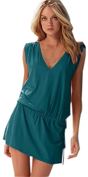 317564670740 Fuxiang Vestido Playa Mujer Camisolas Vestidos Playeros Verano Traje ...