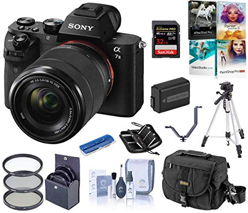 Sony Alpha a7II Full-Frame Mirrorless Digital Camera with 28-70mm Lens Bundle with Camera Bag, Battery, Filter Kit…