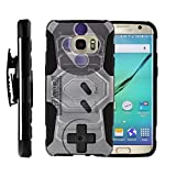 TurtleArmor | Compatible for Samsung Galaxy S7 Edge Case | G935 [Octo Guard] Dual Layer Case Holster Belt Clip Sturdy Kickstand Cover – Classic Game Controller Review