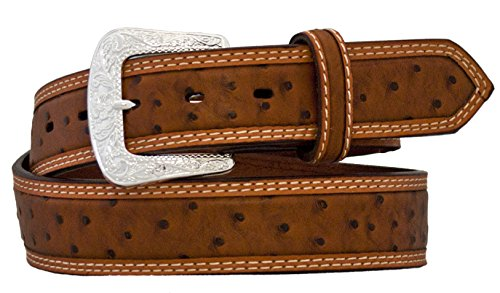 Ostrich Embossed Belt (Silver Canyon Mens 1.5