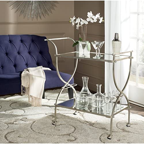 Safavieh Home Collection Lucretius Silver Bar Cart