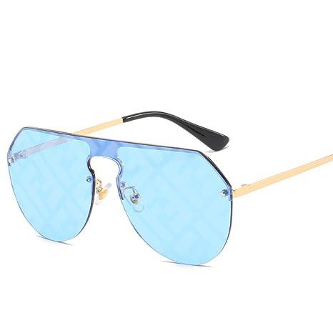 Yangjing-hl Gafas de Sol con Lentes siamesas Mujer Caja ...