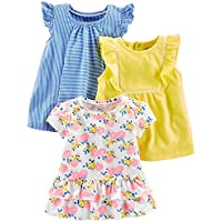 Simple Joys by Carter's Baby Girls' Toddler 3-Pack Short-Sleeve Shirts and Tops