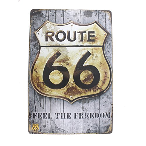 12x8 Inches Pub,bar,home Wall Decor Souvenir Hanging Metal Tin Sign Plate Plaque (ROUTE 66 FEEL THE (Route 66 Halloween)