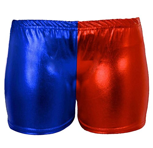 XL Dance Islander Shiny S Womens Red Pants Look Ladies Metallic Blue Wear Fashions Hot Stretchy Pantaloncini bagnato Party ZpnZvFg