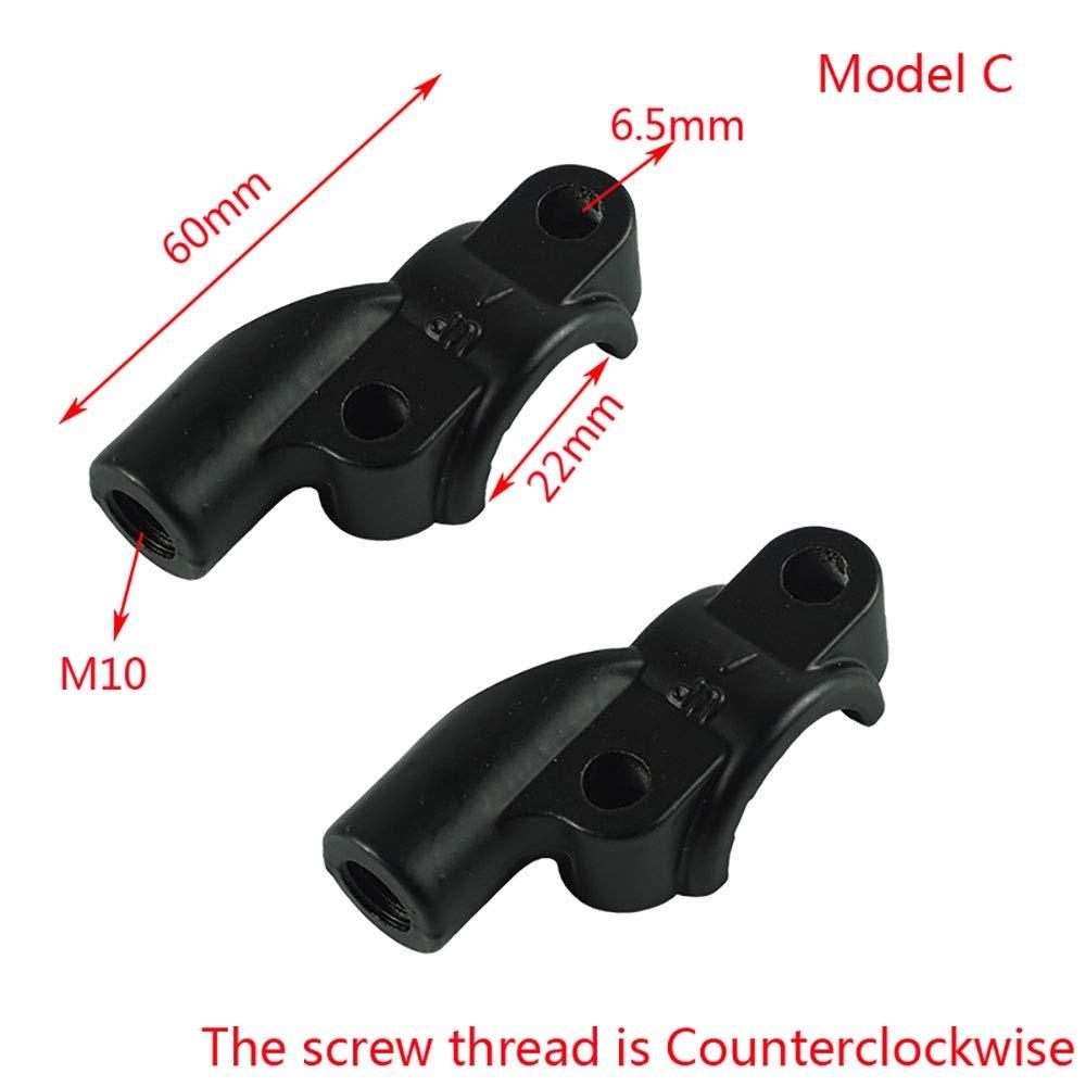 Color : Model A Accesorios Moto 1 par 22 mm 7//8Manillar de la Motocicleta Universal Embrague de Freno Cilindro Maestro Espejo Abrazadera de Montaje Soporte M10
