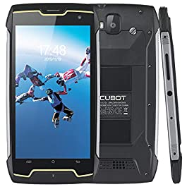 16GB Unlocked Rugged Smartphone, 4400mAh, 5 Inch HD IPS, 13+8MP Camera, IP68 Waterproof, 10 Points Touch, Quad-Core, Dual SIM, 3G WCDMA,GPS, Compass, 2GB RAM, CUBOT King Kong