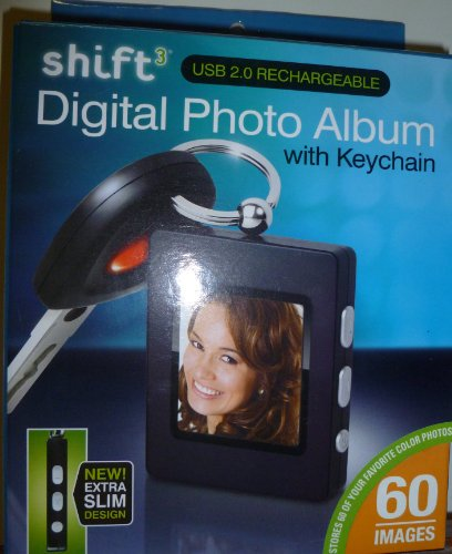 Shift3 Digital Photo Album with Keychain-Purple ()