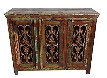 Moti Beach 4 Iron Jali Door Buffet - 40 x 16 x 60 in.