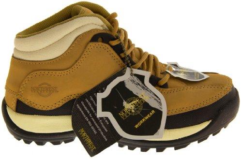 Northwest Territory - Botas de proteccion de cuero para mujer. Miel de color marrón