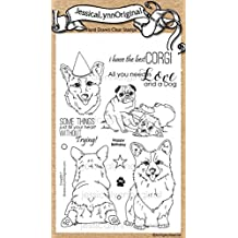 JessicaLynnOriginal Pembroke Welsh Corgi AKC Dog 4x6 Clear Rubber Stamps