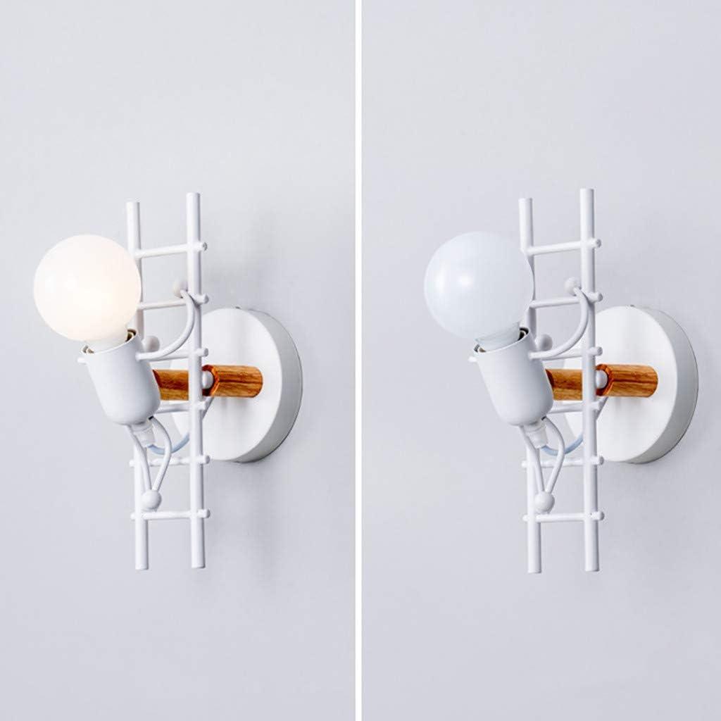 Ampoules Non incluses Restaurants caf/é Koojawind E27 Vintage r/étro LOFT Style Industriel m/étal Art Restaurant Cafe Villain Escalade Applique Murale pour Maison Bar