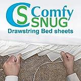 QUEEN White T300 100% Cotton (Fitted Sheet Only) - Sheet Fastener - Sheet Holder - Sheet Strap - Suspender - Sheet Tensioner - Mattress Gripper - Adjustable Bed Sheet