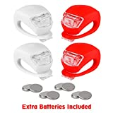 refun Bicycle Light, Front and Rear Silicone LED Bike Light Set, High...