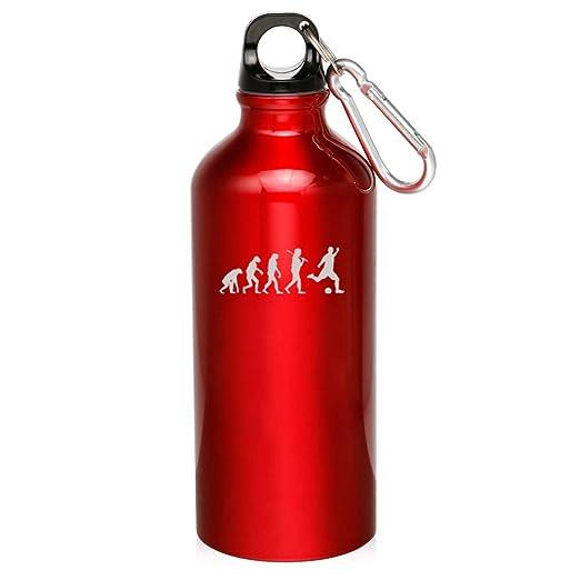 20oz Aluminum Sports Water Bottle Canteen Clip Evolution Basketball
