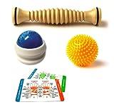 Body Back Company Foot Roller large, Porcupine Massage Ball, Massage Roller Ball and Reflexology card, Health Care Stuffs