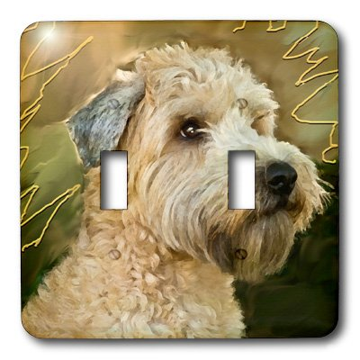 3dRose LLC lsp_4808_2 Soft Coated Wheaten Terrier Portrait, Double Toggle Switch