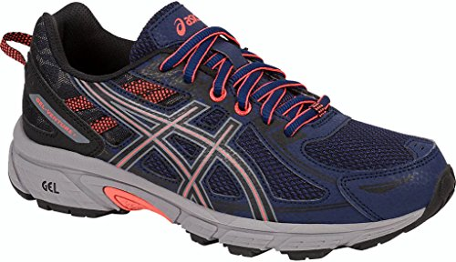 ASICS Women's Gel-Venture 6 Running-Shoes,Indigo Blue/Black/Coral,10 Medium US