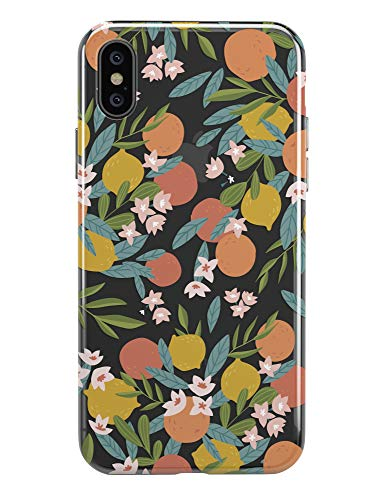iPhone XR Case,TRFAEE Lovely Citrus Oranges Tangerines Fruits Lemon Clear Soft Anti Scratch Shock Absorption Protective TPU Cases Cover for iPhone XR