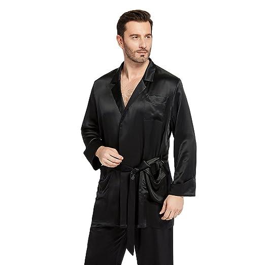 bca670cdd6 LilySilk Silk Pajamas Set for Men Summer 22 Momme Most Comfortable Sleepwear  at Amazon Men s Clothing store
